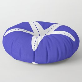 Starfish (White & Navy Blue) Floor Pillow