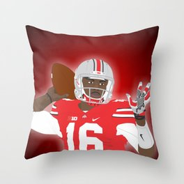 Ohio State Buckeyes - JT Barrett - 2016 Throw Pillow