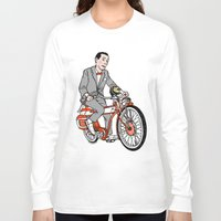 pee wee Long Sleeve T-shirts featuring Pee Wee Herman by Michael Scarano