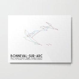 Bonneval Sur Arc, Savoie, FRA - North American Edition - Minimalist Trail Art Metal Print