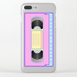 Pastel kawaii VHS vaporwave pixel art Clear iPhone Case