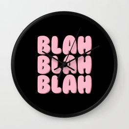 'Blah Blah Blah' Bubble Gum Font Wall Clock