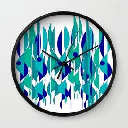 Abstrakt Flames Wall Clock
