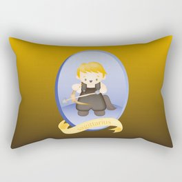 Sagittarius Child Zodiac Sign Illustration Rectangular Pillow
