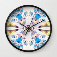 bitch Wall Clocks featuring Bitch. by DanielleYagodich