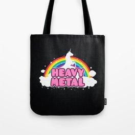 HEAVY METAL! (Funny Unicorn / Rainbow Mosh Parody Design) Tote Bag