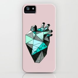 Single Minty Heart iPhone Case
