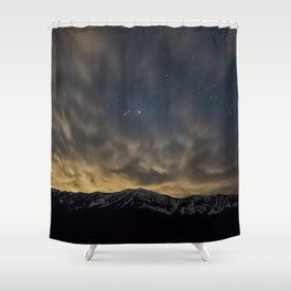 Meteor Over The Bridgers Shower Curtain