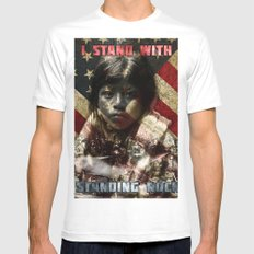 I Stand With Standing Rock Mens Fitted Tee White MEDIUM