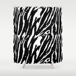 Tiger Black & White Shower Curtain