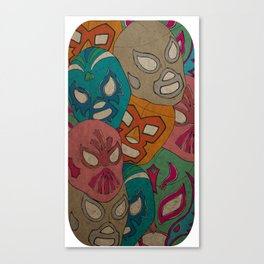 love lucha Canvas Print