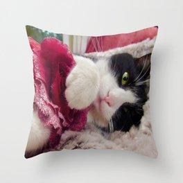 Orazio very sweet cat Throw Pillow
