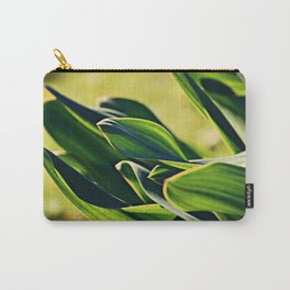 Abstract Leaves Carry-All Pouch