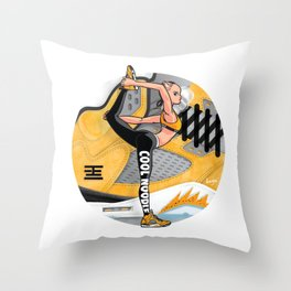 "Yoga girl Cool Noodle and ""Tokyo"" Throw Pillow"