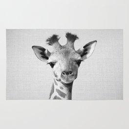 Baby Giraffe - Black & White Rug