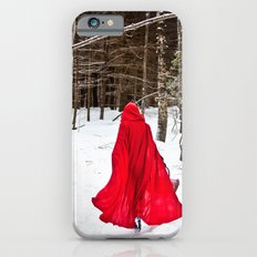 Little Red Riding Hood Runs Through The Woods In Winter iPhone 6s Slim Case