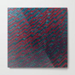 Zag [Red/Blue] Metal Print