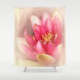 Pink Waterlily Pastel Shower Curtain