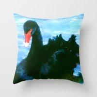 noir Throw Pillows featuring NOIR by FOXART  - JAY PATRICK FOX