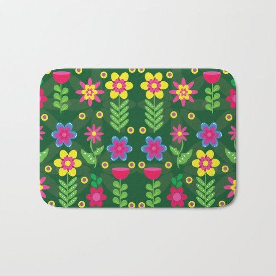 Colorful Flowers Bath Mat