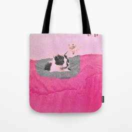 the bed we burnt, the kitten we killed Tote Bag