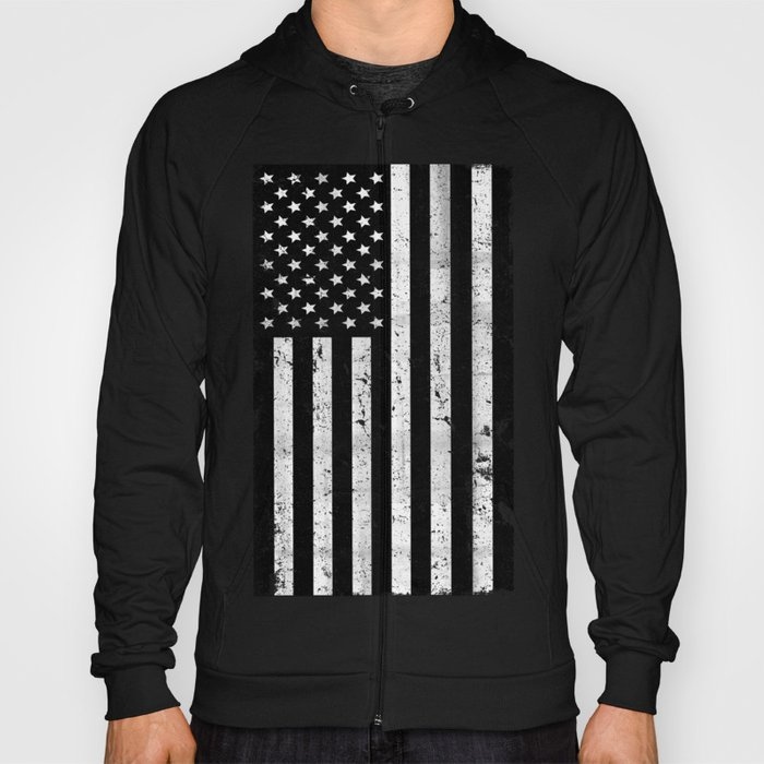 8457324c5d7 Dirty Vine Black And White American Flag Hoody By Rexlambo Society6.  Distressed Black And White American Flag T Shirt