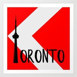 Toronto Red Art Print
