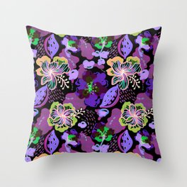 Hand Drawn Floral 0029 Throw Pillow