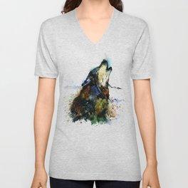 Howling Wolf Unisex V-Neck