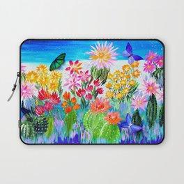 Succulent Garden with Butterflies Laptop Sleeve