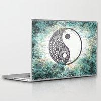 yin yang Laptop & iPad Skins featuring Yin & Yang by Hope
