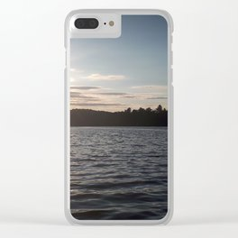 Sunset on the Lake Clear iPhone Case