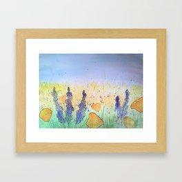 You Belong Among The Wildflowers Framed Art Print