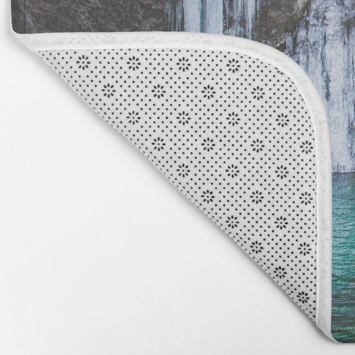 Frozen waterfall Bath Mat