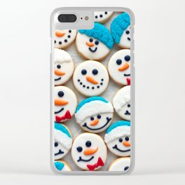 snowy smiles Clear iPhone Case