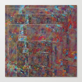 Mosaic Collage Duvet Cover Canvas Print