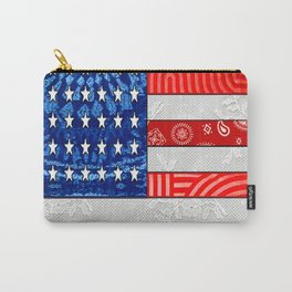 Retro American Flag Carry-All Pouch