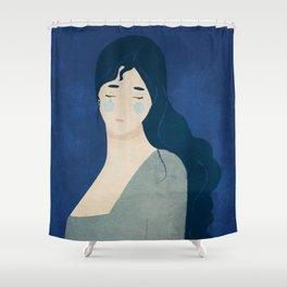 My tears are blue Shower Curtain