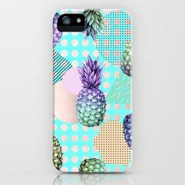 Pineapple Summer Rainbow Rose Gold iPhone Case