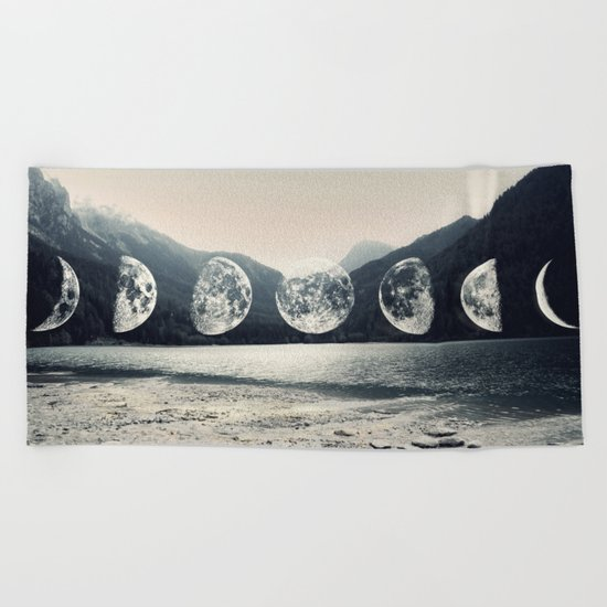 Moonlight Mountains Beach Towel