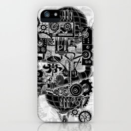 Hungry Gears (negative) iPhone Case