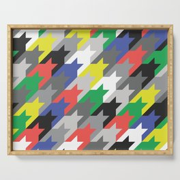 Multicolor houndstooth Serving Tray