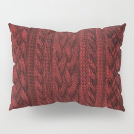 Cardinal Red Cable Knit Pillow Sham