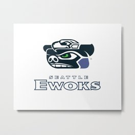 Seattle Ewoks - NFL Metal Print