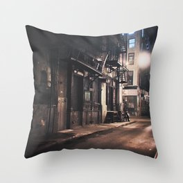 New York City - Small Hours After Midnight Throw Pillow