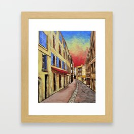 Streets of Aix-en-Provence Framed Art Print