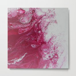 Tentacles, abstract acrylic fluid painting Metal Print