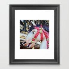 Paris Carousel Merry Go Round Horse - Carousel Horses Framed Art Print
