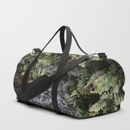 Fern Covered Coastal Cliff Face Duffle Bag