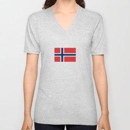 Flag of norway Unisex V-Neck